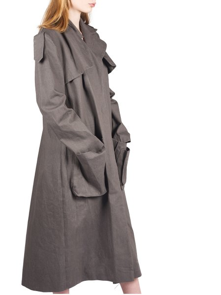 Grey Denim Trench