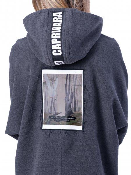Hooded Sweatshirt With Back Panel