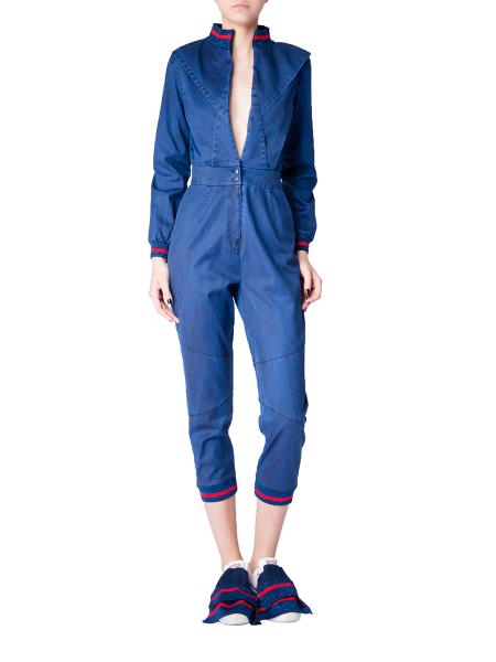 Intense Blue Denim Jumpsuit