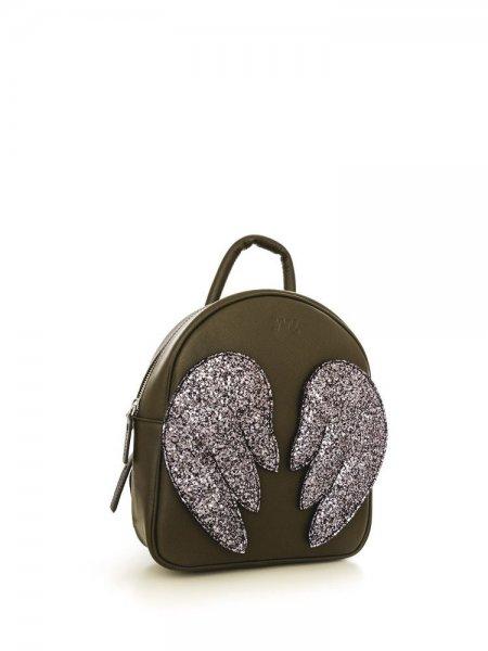 Khaki Ami  Purple Wings Backpack