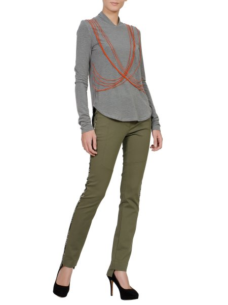 Khaki Simple Trousers