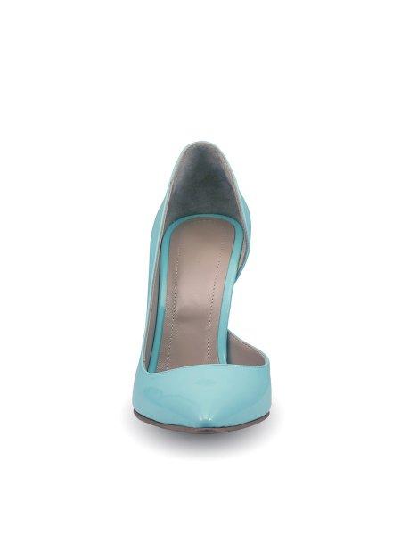 Light Blue Leather Stilettos