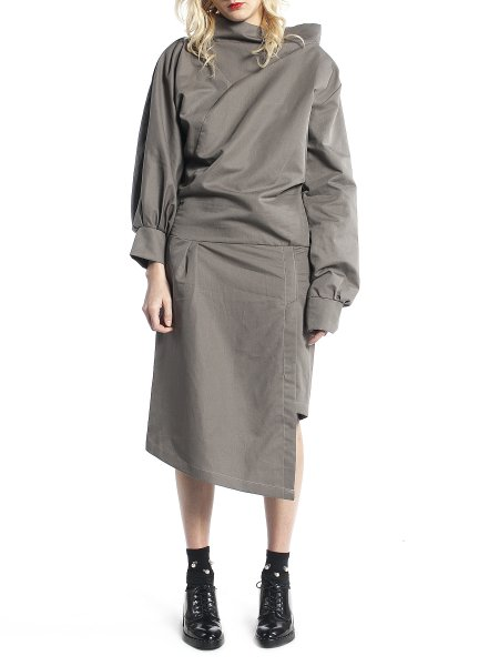 Light Grey Asymmetric Dress
