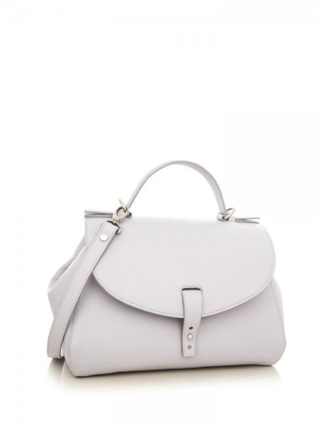 Light Grey Satine Shoulder Bag
