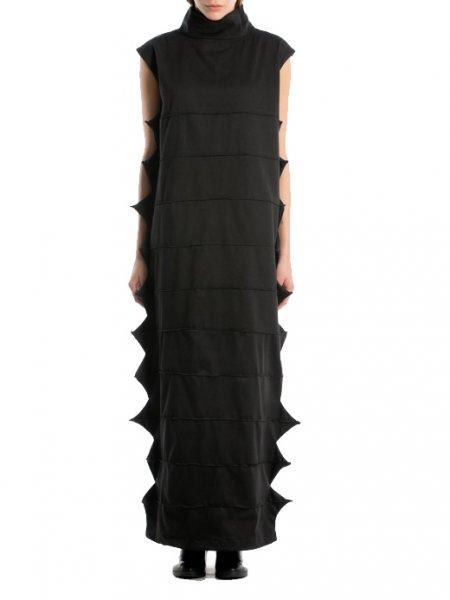 Long Deconstructed Black Dress