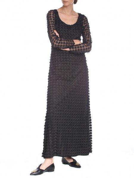 Long Flared 3D Dress