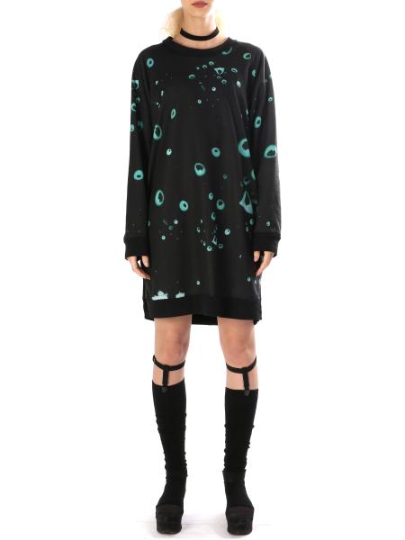 Long Sleeved Printed Dress