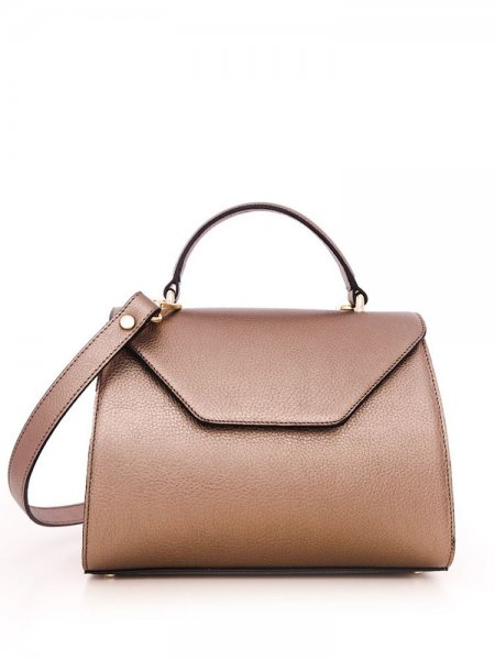 Metalic Brown Maria Shoulder Bag