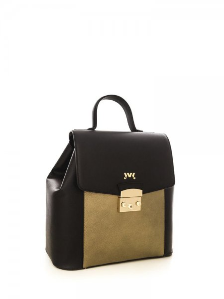 Metalic Gold Aceline Safiano Backpack