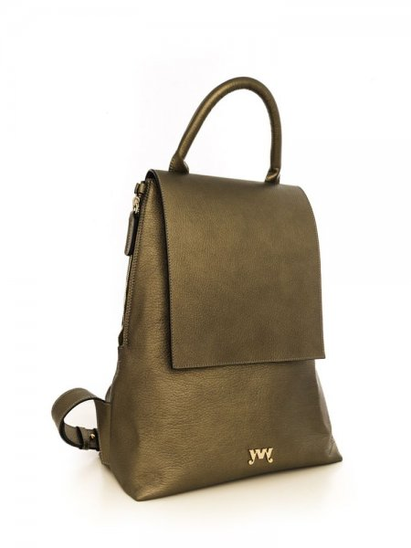 Metalic Khaki Clara Backpack