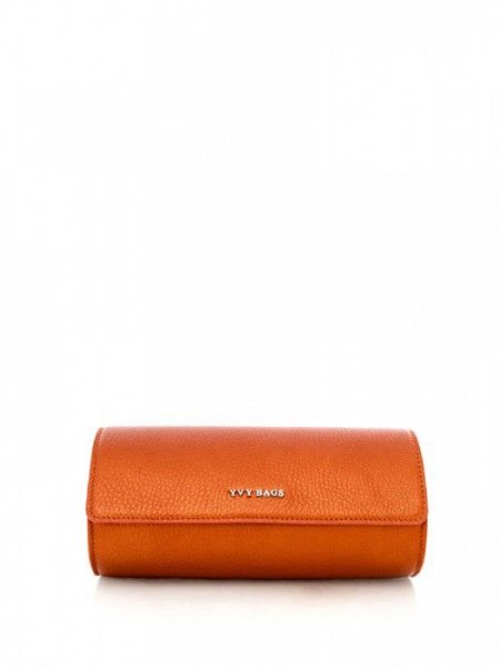 Metalic Orange Caroline Clutch