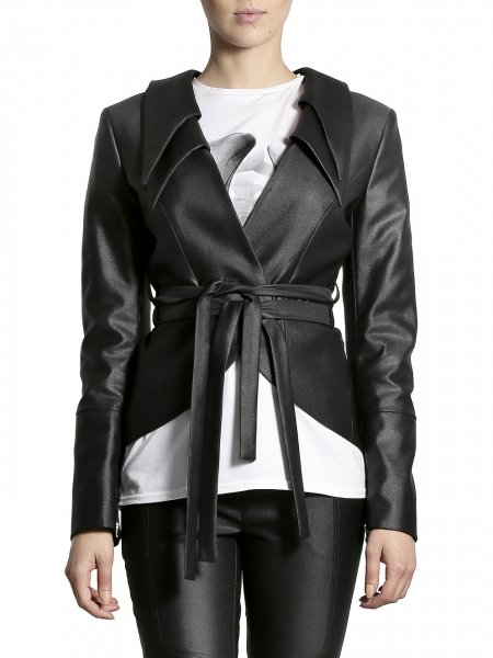 Metallic Cotton Jacket with Double Collar
