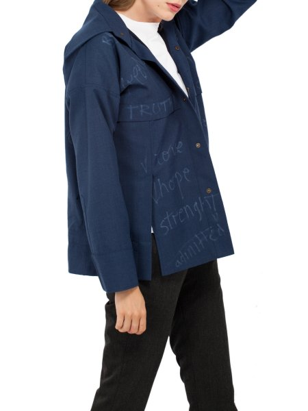 Navy Woolen Jacket