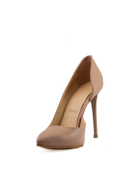 Nude Leather Stilettos