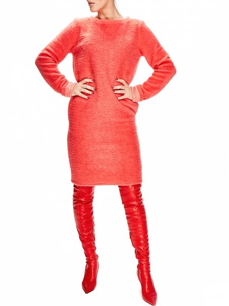 Orange Woolen Dress