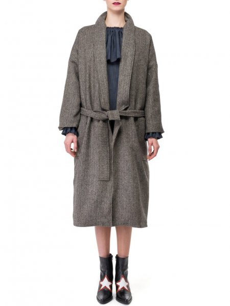Oversized Wool Mix Coat