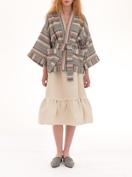 Pattern Fabric Kimono