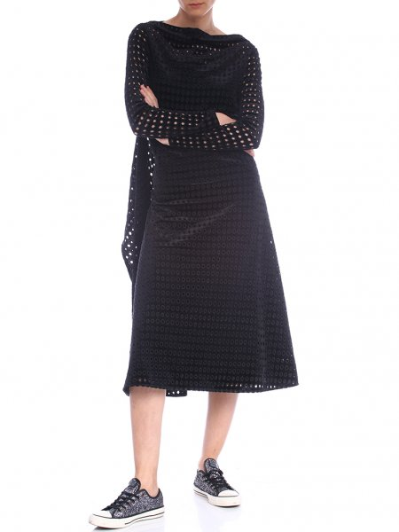 Perforated Velvet Dress