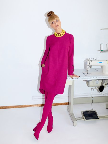 Pink Asymmetric Cotton Dress