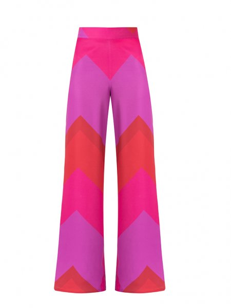 Pink Flared Trousers