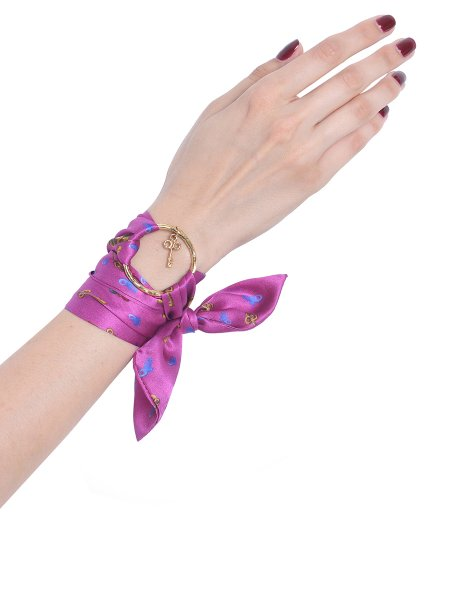 Pink Pure Silk Bracelet