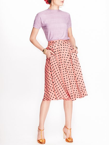 Pink Skirt with Dots