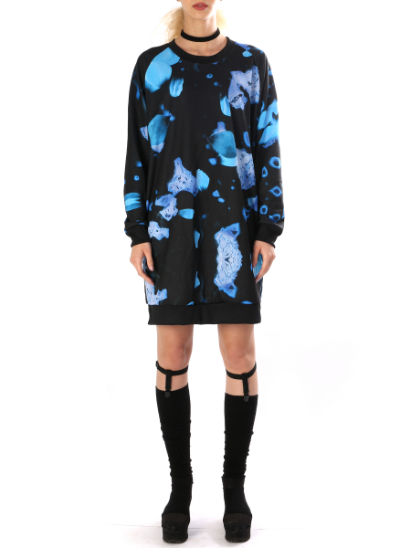 Printed Dress With Side Pockets