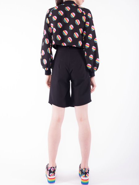 Printed Short Jacket With Bell Sleeves