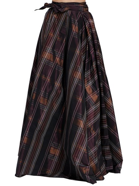 Purple Checked  Skirt