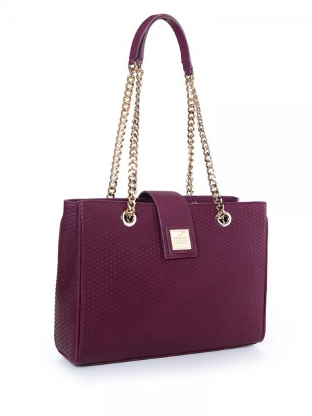 Purple Lady Boss Shoulder Bag