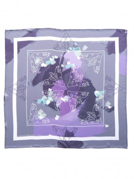 Purple Printed Veil Scarf