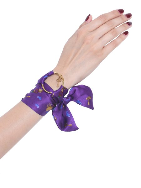 Purple Pure Silk Bracelet