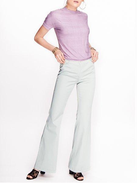 Purple Slim Fit Top
