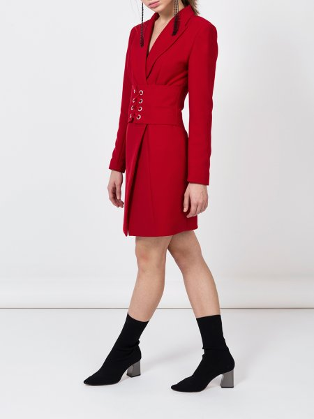 Red Blazer Dress