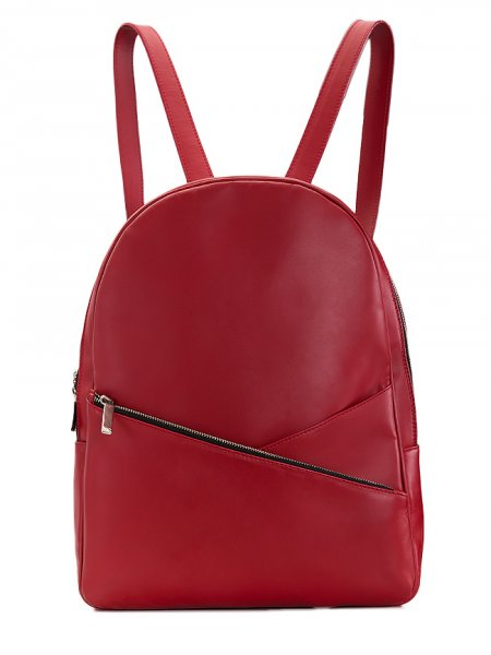 Red Leather Backpack