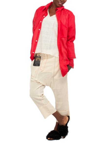 Red Soft Cotton Shirt