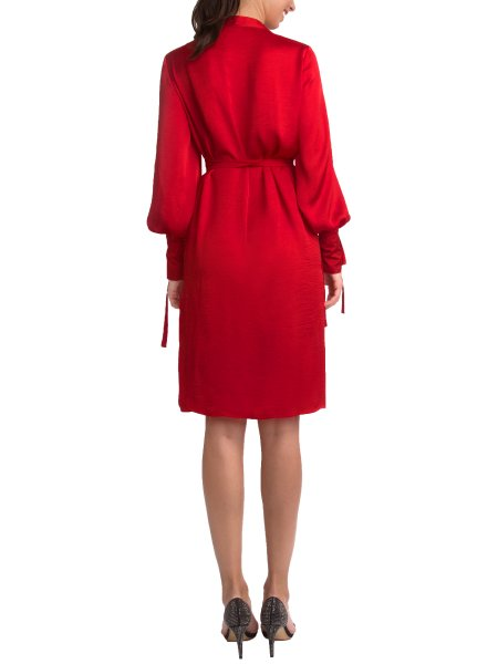 Reddish Silk Dress