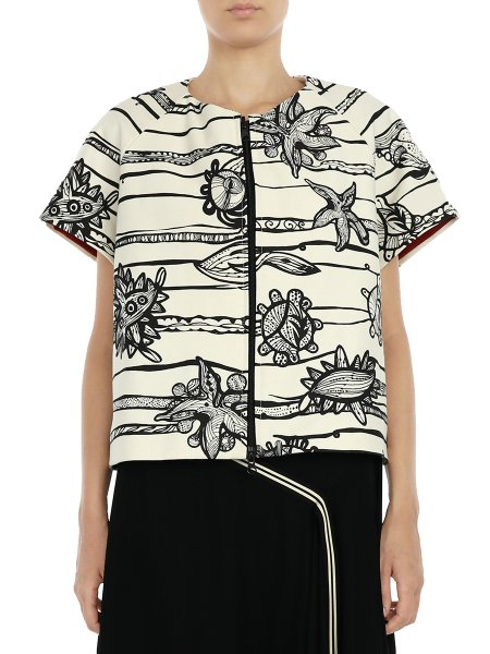 Short Sleeved Printed Jacket