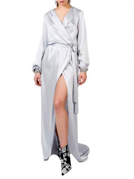 Silver Silk Dress