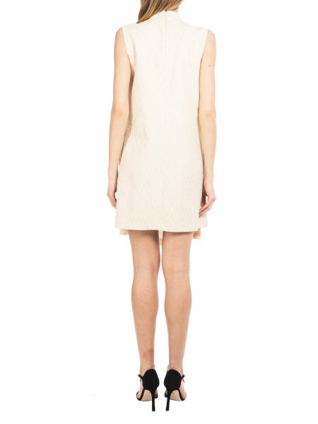 Sleeveles Cotton Dress With Frills