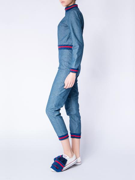 Soft Blue Denim Jumpsuit