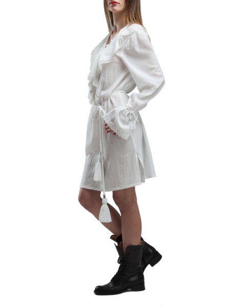 Soft Cotton Dress With Ruffles