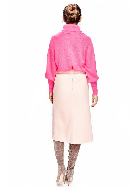 Soft Pink Viscose Midi Skirt