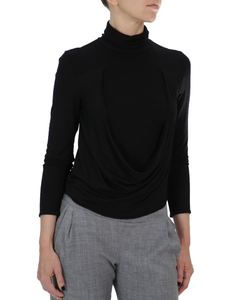 Turtleneck Black Blouse