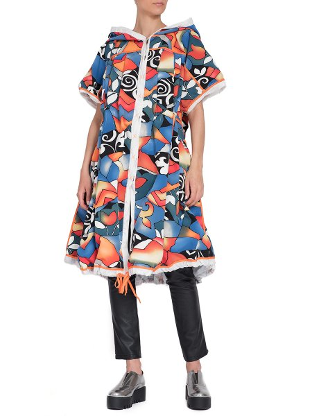 Two-Faced Floral Printed Trench
