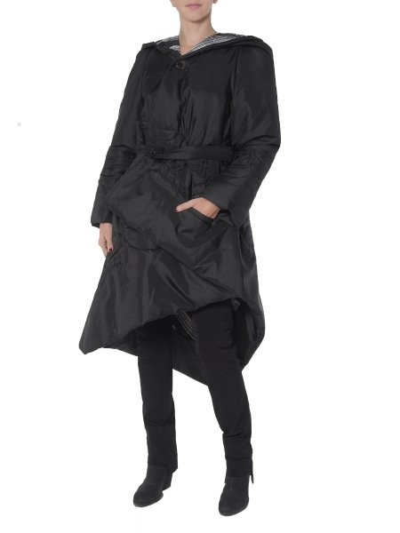 Two-Faced Long Asymmetric Slicker Jacket