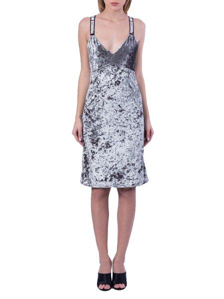 Velvet Midi Dress With Back Zip
