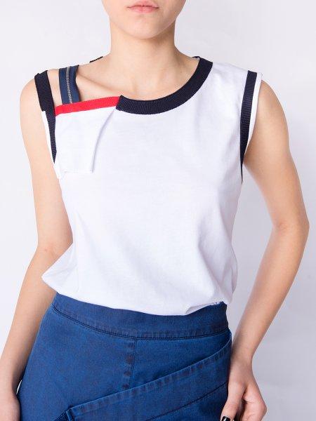 White Asymmetric T-shirt