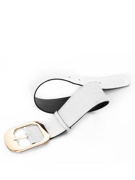 White Buckle Belt