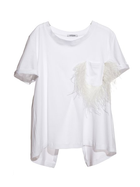 White Cotton-Jersey T-shirt